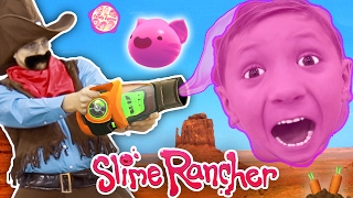 Gooey, Squishie Slimes Monsters vs. FGTEEV Sheriff (Slime Rancher Farm Gameplay / Skit)