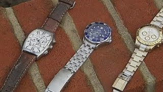Lucky cleaners find Rolex watches in sewer