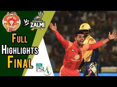 Xxx Mp4 Full Highlights Peshawar Zalmi Vs Islamabad United Final 25 March HBL PSL 2018 3gp Sex