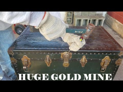 MONEY IN OLD TRUNK I Bought Abandoned Storage Unit Locker Opening Mystery Boxes Storage Wars Auction