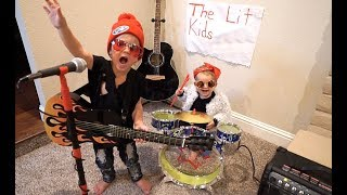 3 Year Old Tydus STARTS A BAND!!