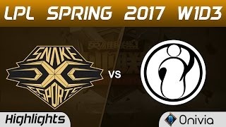 SNAKE vs IG Highlights Game 3 LPL Spring 2017 W1D3   Snake Esports vs Invictus Gaming