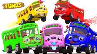 Bus Finger Family | Bus Family | Buses Finger Family | Bus Rhyme | Kids Songs by Farmees