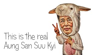 This is the real Aung San Suu Kyi.