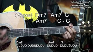 How To Play ADVENTURE OF A LIFETIME  Coldplay Acoustic Guitar Lesson EricBlackmonMusicHD YouTube