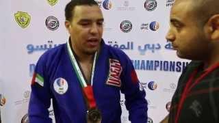 حديث فيصل الكتبي لسوبر خلال بطولة دبي المفتوحة للجوجيتسو