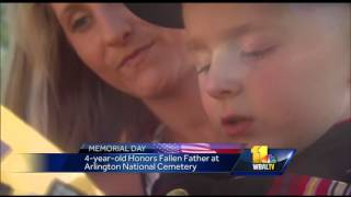 4-year-old shares message for fallen father