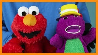 BARNEY Sings Silly Hats Song ELMO SESAME STREET TOY Dancing Fun Happy