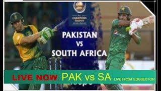 Live Match : Pakistan  vs  South Africa ICC Champions Trophy 7 june 2017