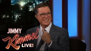 Stephen Colbert Asks Jimmy Kimmel for Emmy Hosting Advice