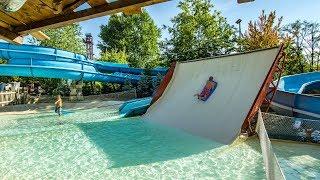 Caneva Aquapark - Frozen Bob Boomerang | Weird Halfpipe Mat Slide Onride POV
