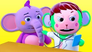 Doctor Monkey Helps All The Animals | 3D Nursery Rhymes For Kids | All Babies Channel
