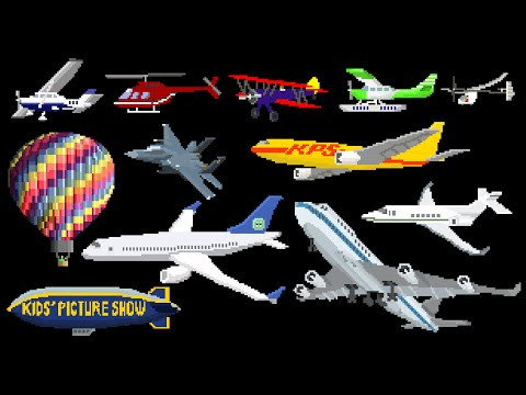 watch Aircraft - Airplanes / Aeroplanes & Air Vehicles - The Kids' Picture Show (Fun & Educational)