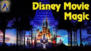 Disney Movie Magic nighttime projection show at Disney's Hollywood Studios