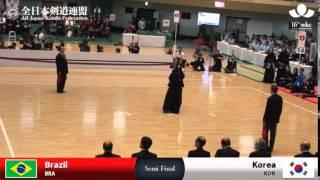 (BRA)Brazil (3)1 - 4(8) Korea(KOR) - 16th World Kendo Championships - Women's Team_S-FINAL