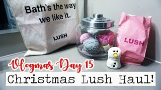 CHRISTMAS LUSH HAUL & GOOGLE HOME MINI REVIEW! || Vlogmas Day 15