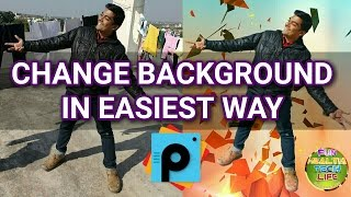HOW TO CHANGE BACKGROUND IMAGE OF YOUR PHOTO? ✔️ (PicsArt EASIEST way)