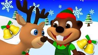 """Jingle Bells"" | Christmas Songs & Carols for Kids, Learn Baby Rhymes, Santa Claus & Busy Beavers"