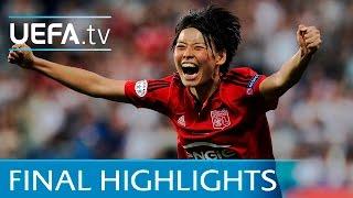 UEFA Women's Champions League final highlights: Lyon v Wolfsburg