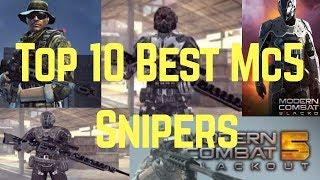 Top 10 Best Snipers in Modern Combat 5