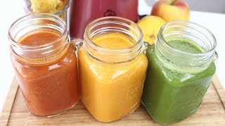 🍊3 leckere Saft-Rezepte | Obst-Gemüsesaft 🍒 Gewinne einen Entsafter - Verlosung bis 10.09.17!