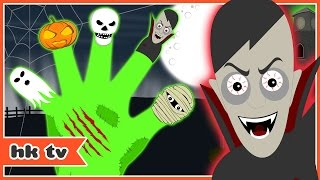 Scary Finger Family | Scary Nursery Rhymes | Kids Songs | HooplaKidz TV