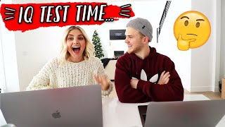 WE TOOK AN IQ TEST... *shocking results*