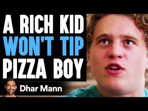 RICH Kid WON T TIP Pizza Boy He Lives To Regret It Dhar Mann