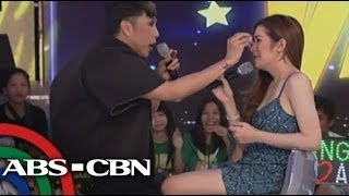 Angeline Quinto breaks into tears on 'GGV'