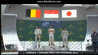 Rio Haryanto menang di GP2 Austria 2015