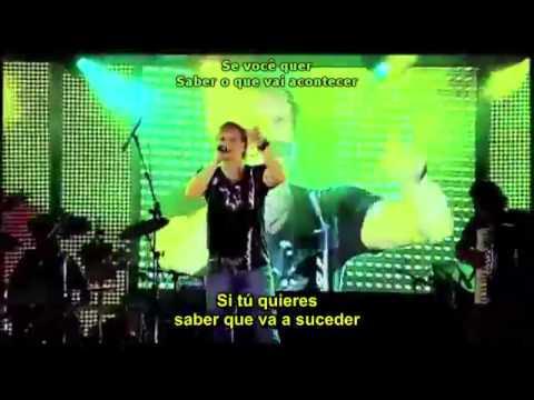 Michel Teló Fugidinha letra lyrics on screen Español Portugues HD