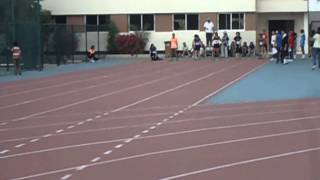 Abu Dhabi Indian School Inter School Athletic Meet Dana and Elnaz 100m final DGPS