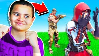 My Little Brother Teaches HIGH SCHOOL BULLY a lesson in Fortnite Battle Royale!