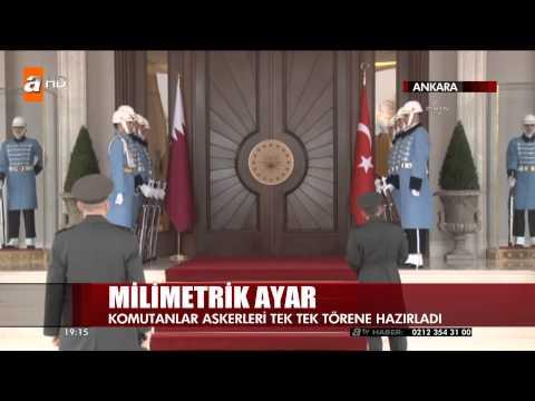 Cumhurbaşkanlığında Muhafız Askerlerine Milimetrik Ayar