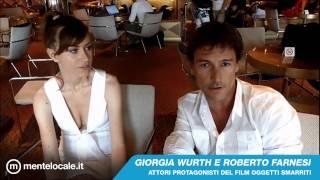 Roberto Farnesi e Giorgia Wurth presentano il film Oggetti smarriti