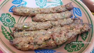 Homemade Seekh kabab in Tandoor Oven | Mutton Seekh Kebab | Village Food Secrets