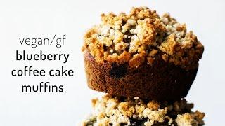 Blueberry Coffee Cake Muffins {vegan & gluten-free}