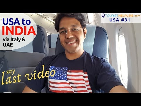 USA to INDIA US Immigration & Security check experience Rome & Abu Dhabi Airport Transit