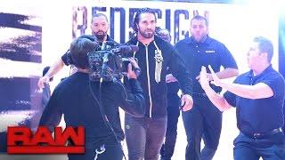 Seth Rollins crashes