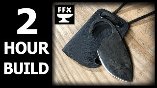 2 Hour Knife Making Challenge: Neck Knife with Sheath (inspired by Walter Sorrells)