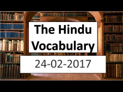 Xxx Mp4 The HINDU Vocabulary 24 2 2017 Learn English Words With Meaning In HINDI 3gp Sex