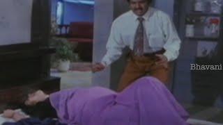 Rajendra Prasad Gets Tension About Srilatha's Pregnancy Pains || Allarodu Movie Scenes