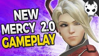 Overwatch - NEW MERCY 2.0 GAMEPLAY - New Ultimate and Abilities!