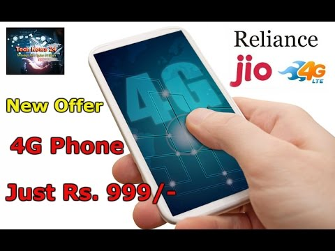 Reliance Jio LYF 4G  Volte Smartphone Just@ Rs.999 + Rs.1500/- Only new Offer