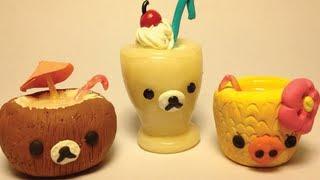 Tropical Drink Clay Miniatures [Aloha Rilakkuma Inspired]