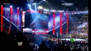 WWE RAW 1000th Episode Opening + DX Entrance