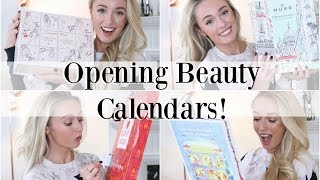 Opening Beauty Advent Calendars!  |   Charlotte Tilbury, The Body Shop, Clarins & More!