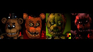 five nights at freddys  1 2 3 4 trailers