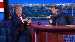 Stephen Colbert Asks Trump About Obama's Birthplace, Changes Subject