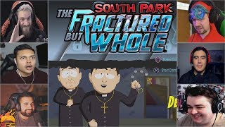 Gamers Reactions to Friendly Priests Intro | South Park™: The Fractured But Whole